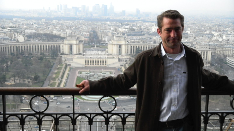 Cooper Gentry Lee on Eiffel Tower in February 2011